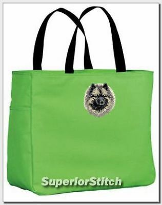 KEESHOND embroidered essential tote bag ANY COLOR