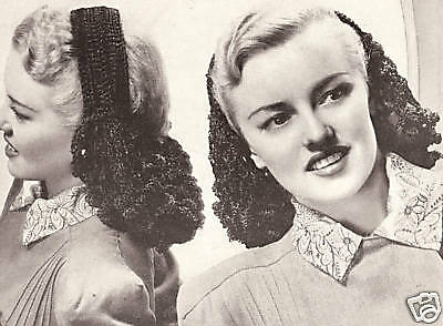 Vintage Crochet Snood Headband Hair band net pattern