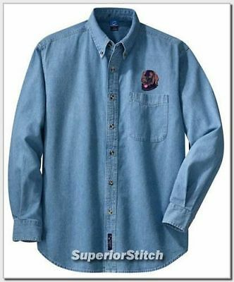 NEWFOUNDLAND embroidered denim shirt XS-XL