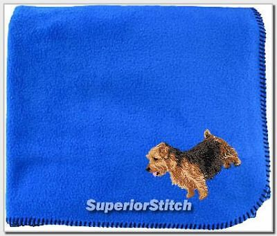 NORFOLK TERRIER embroidered blanket ANY COLOR
