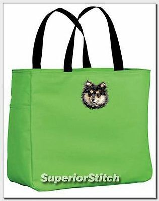 POMERANIAN embroidered essential tote bag ANY COLOR