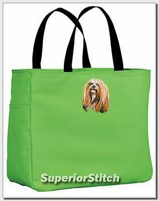 LHASA APSO embroidered essential tote bag ANY COLOR