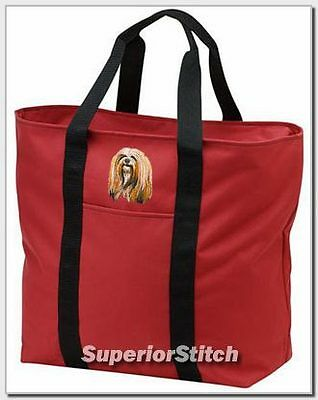 LHASA APSO embroidered tote bag ANY COLOR