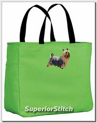 SILKY TERRIER embroidered essential tote bag ANY COLOR