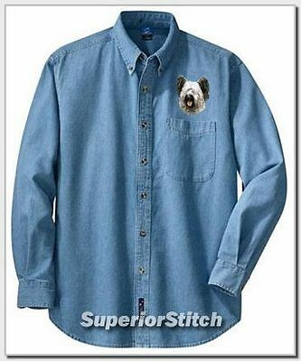 SKYE TERRIER embroidered denim shirt XS-XL