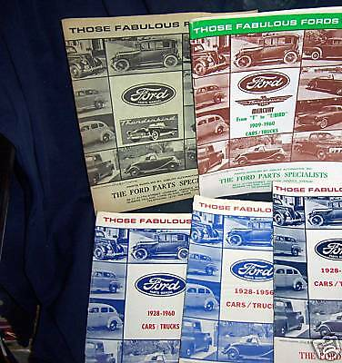THOSE FABULOUS FORDS  lot of 4 MAGAZINES 1928-1960