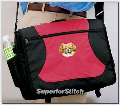 TIBETAN SPANIEL embroidered messenger bag ANY COLOR