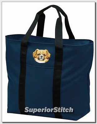TIBETAN SPANIEL embroidered tote bag ANY COLOR
