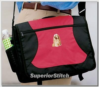 TIBETAN TERRIER embroidered messenger bag ANY COLOR