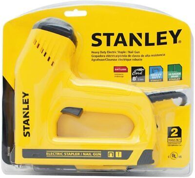 New Stanley Electric Mains T50 Staple & Brad/Pin Nail Fixing Gun TRE550, 240v