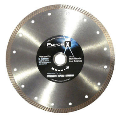 "FORCE-X 9"" 230mm Diamond Hard Material Porcelain Tile Metal Blade/Disc, CRX230"
