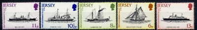 Jersey 1978 Packet Boats Set Of 5 Stamps Mint Complete!