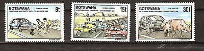 BOTSWANA # 487-489 MNH Road Safety
