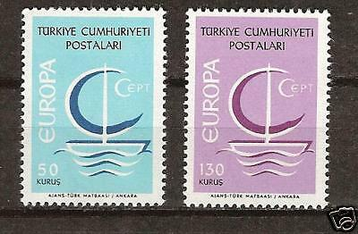 TURKEY # 1718-1719 MNH Europa 1966