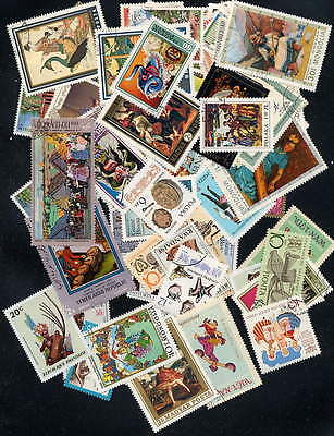 Magnificent Collection Of Folklore Stamps - 100 Diff.!