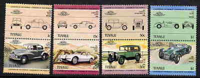 Tuvalu 1984 Classic Car Stamps - Mint Complete Set!