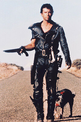 Mel Gibson Mad Max 2 24X36 Poster Leathers With Gun