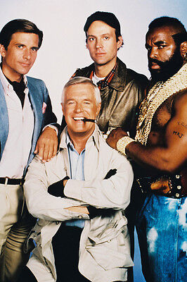 The A-Team George Peppard Mr. T & Cast 24X36 Poster
