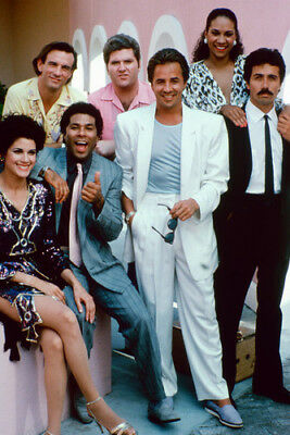 Miami Vice Color Don Johnson & Cast 24X36 Poster Print