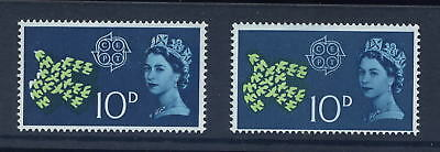 GB ERROR 1961 CEPT 10d BIRD...GREEN MISPLACED to RIGHT