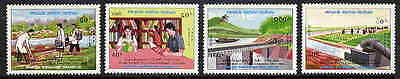 Laos Boat - Medicine - Library Stamps - Mint Cplt. Set!