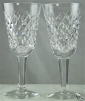 2 Used Waterford Crystal Alana Cordial Wine Glasses