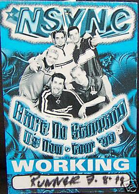 Nsync - N Sync AIN'T NO STOPPING Backstage Pass [1999]