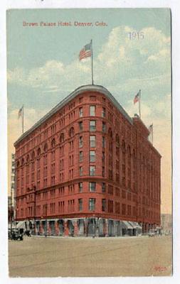 DENVER CO BROWN PALACE HOTEL 3 DIF OLD POSTCARDS PC7010