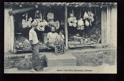 Ceylon COLOMBO Native fruit shop PPC