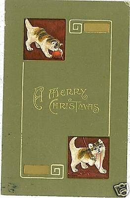 Vintage Postcard: Gatos - Gatti - Cats - Chat - Xmas