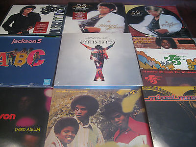 Michael Jackson Thriller & Bad 25Th Anniversary + Picture Disc 19 Titles 26 Pcs