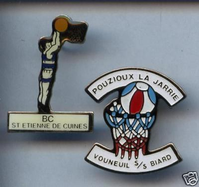 2 Rares Pins Pin's ..   Basket Ball / Club France  #6B