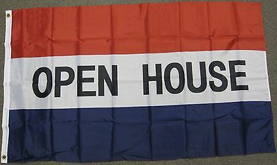 3X5 Open House Flag Realty Real Estate Realtor New F473
