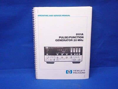 hp 8111a operating and service manual with schematics 44 99 rh picclick com HP Officejet Pro 8500A Manual HP Pavilion Service Manuals