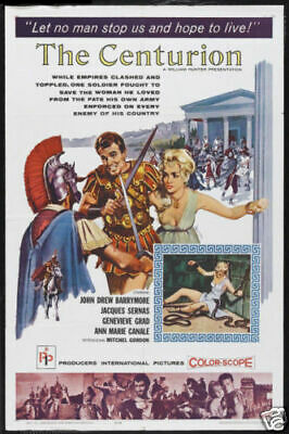"THE CENTURION - 27""x41"" Original Movie Poster One Sheet 1962 John Barrymore"