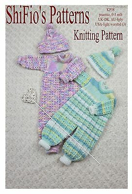 Knitting Pattern - KP217 - baby boy, girl, jacket, hat,leggings, mitts and blanket, 2 sizes
