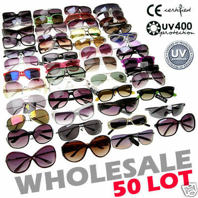 50 Mixed Lot WHOLESALE Resale Glasses Sunglasses NEW