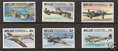 BELIZE # 951-6 BATTLE OF BRITAIN Aerial Combat Planes