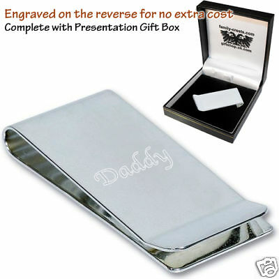 Daddy Family Engraved Money Clip Gift