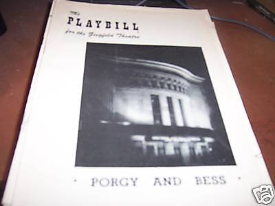 Porgy and Bess Playbill The Ziegleld Theatre 6/15/53