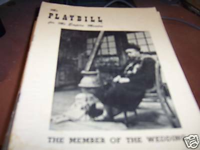 The Member of the Wedding Playbill with Ethel Waters