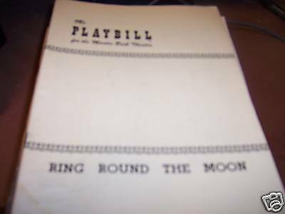 Ring Round the Moon Playbill Martin Beck Theatre 1950