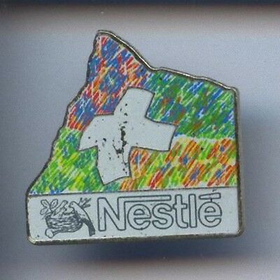 Rare Pins Pin's .. Croix Blanche / Nestle  Em #7B