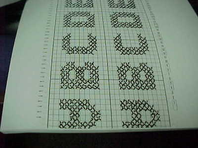 Horizontal & Vertical Alphabets for Knitting Machines
