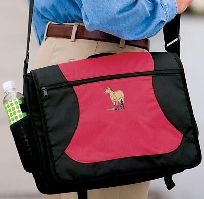 BUCKSKIN horse embroidered messenger bag ANY COLOR