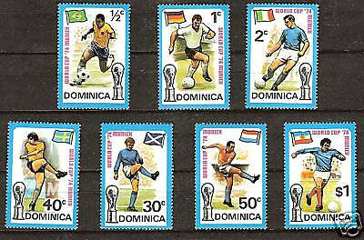 Dominica # 395-401 Mnh World Cup Soccer Championship