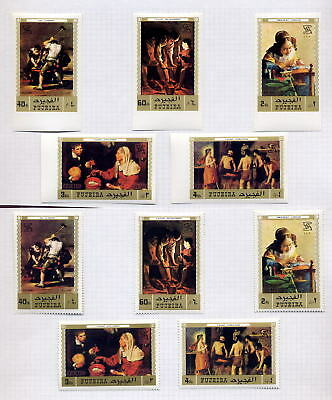 FUJEIRA 1970 Collection PERF + IMPERF MINT...8 sets