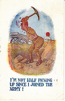 Picking Up Since I Joined The Army - Ww1 Postcard
