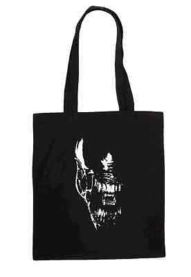 Alien Retro Cult Movie Ladies T Shirt Design Tote Bag