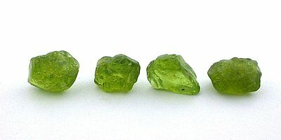 8.8 Grams 4 Pieces Peridot Apple Green Facet Rough Gem Stone Gemstone EBS1912